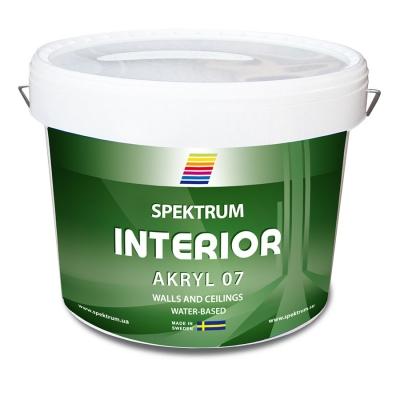 Краска для стен и потолков Spektrum Interior 07 (vit) водоэмульсионная, 10 л