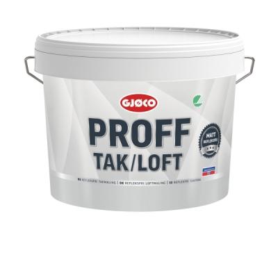 Краска для потолков матовая Gjoco Proff Tak/Loft, 9 л