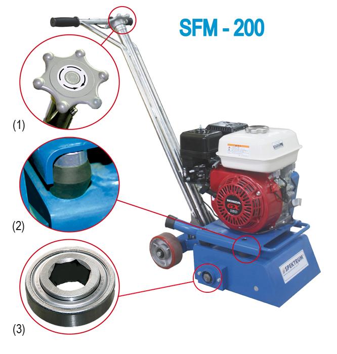 Фото, картинки фрезерная, фрезеровальная, роторно-фрезеровальная, фрезеровочная  машина  по бетону, асфальту, камню SFM-200 от Спектрум