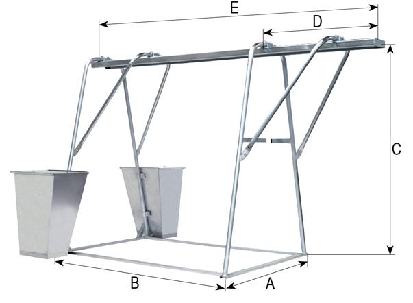 Чертеж, схема подъемник грузовой строительный СПЕКТРУМ ПГС-1,0, кран балочно-консольный , подъемник консольный, кран в окно