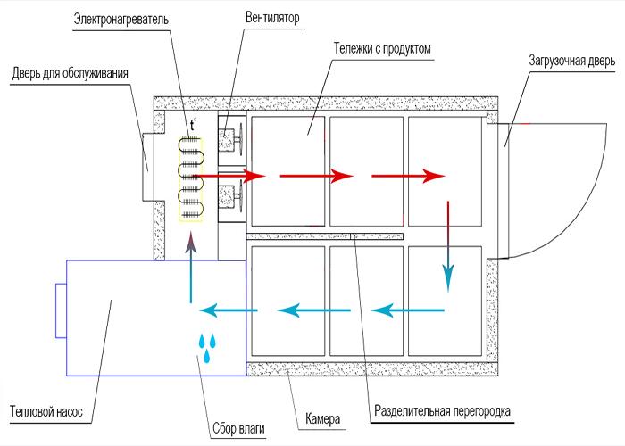 Shema printsipialnaja dlya sushilok konvektivnykh KTU 11/14/18/22/26/44 ot Spektrum