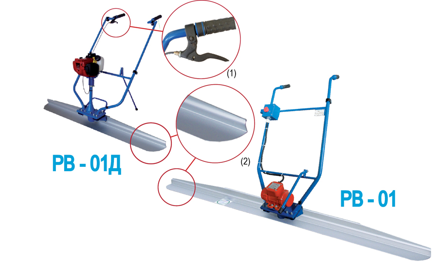 Фото, картинка Виброрейка ручная электрическая, бензиновая от СПЕКТРУМ