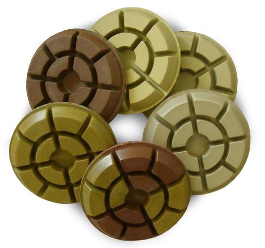 Пады СПЕКТРУМ алмазные толстые жесткие для шлифовки и полировки бетона, камня, мрамора, мраморной крошки