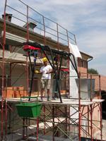 Фото, картинки подъемник грузовой строительный СПЕКТРУМ ПГС-1,0, кран в окно, подъемник консольный, кран в окно Умелец