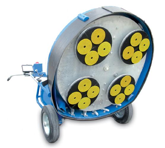 Пады СПЕКТРУМ алмазные гибкие, круги алмазные шлифовальные гибкие для шлифовально-полировальной машины SPEKTRUM GPM-750